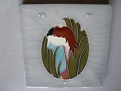 Boizenburg Storch Jugendstil Fliese art nouveau tile tegel
