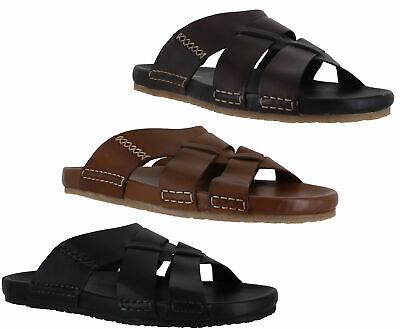 Mens Hush Puppies Distinct Switch Slip On Casual Leather Mule Sandals Size 6-12