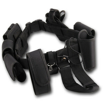 Police Security Tactical Belt System 9 Pouch Utility Kit Guard Duty Army Patrol