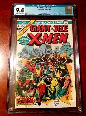1975 Giant-Size X-Men 1 CGC 9.4 1st app of the new X-Men, 2nd Full Wolverine KEY