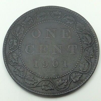 1901 Canada Copper One Large Cent Penny Circulated Canadian Coin C209