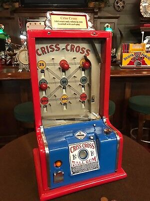 "1938 D. Robbins Co CRISS CROSS Trade Stimulator ""WATCH VIDEO"""