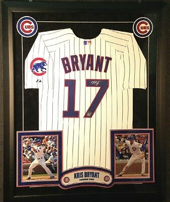 3ea20aa42 Kris Bryant Chicago Cubs Auto Signed Custom Framed Jersey Fanatics Authentic