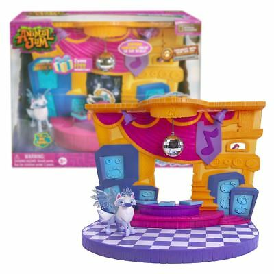 New Animal Jam Club Geoz Dance Party Playset Diamond Arctic Wolf Figure Official