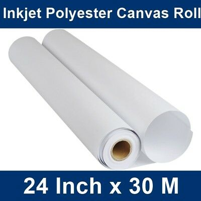 "High Quality Wide Format Digital Inkjet Canvas Roll 24"" x 30m, Acrylic/Oil Paint"