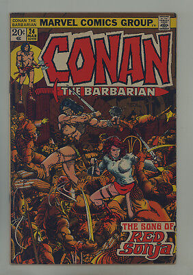 Conan the Barbarian #24 FN- Barry Smith, 1st Full Red Sonja, 1st Red Sonja Cover