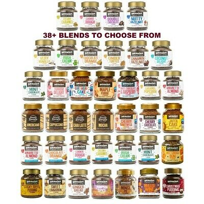 3x BEANIES FLAVOURED INSTANT GROUND COFFEE 50g JARS: SELECT ANY 3 BLENDS