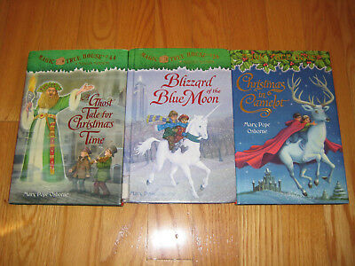 Lot of 3 Magic Tree House Hardcover Bks - Christmas Camelot, #36, #44