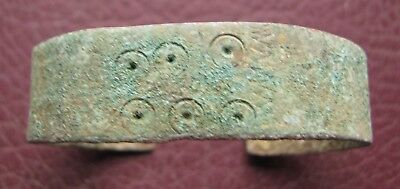 Authentic Ancient Lake Ladoga VIKING Artifact > Bronze Bracelet  RJ 33