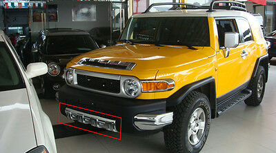 For Toyota FJ Cruiser 2007-2016  Chrome ABS Front Bumper Protection Guard Cover