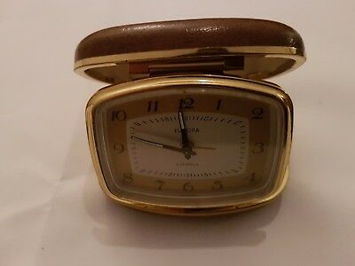 Vintage Europa 2 Jewel Travel Clock untested/unserviced sold as seen.