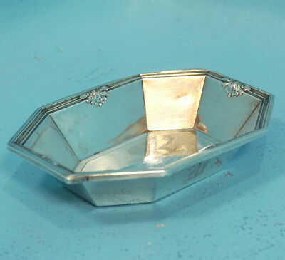 Antique Sterling Silver Paneled Dish Tray Vide Poche Whiting NY USA 2077 1917