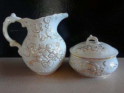 Wheeling Pottery Chamber Bath Set c. 1895