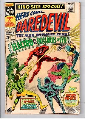 Daredevil #1 Silver Age Marvel Comics Group Electro And The Emissaries Of Evil