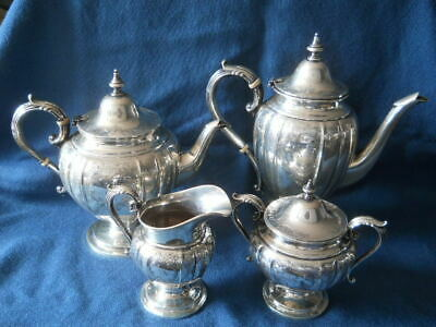 Absolutely Lovely Birks Sterling 4 Pc Tea Coffee Service Set