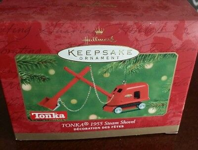 2001 Hallmark Keepsake Ornament, 1955 Tonka Steam Shovel New