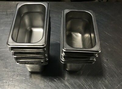 """Lot Of 10 Don 1/9 Size 4"""" Steam Table Pans"""
