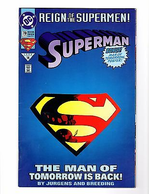 SUPERMAN #78 Die Cut and Regular Reign of the Supermen
