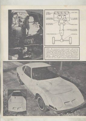 1980 ? Opel GT Hybrid Electric Car Brochure wy8324