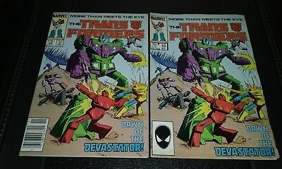 Transformers #10 1st Appearance of Devastator, Marvel 8.0 VF