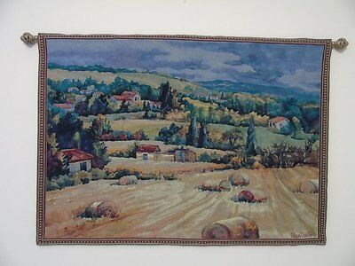Vintage Tapestry, French Country, Rare, Large, Old World Art, Heirloom Quality
