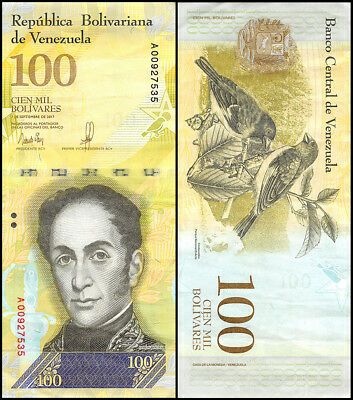 Venezuela 100,000 (100000) Bolivares, 2007-17, P-NEW, USED