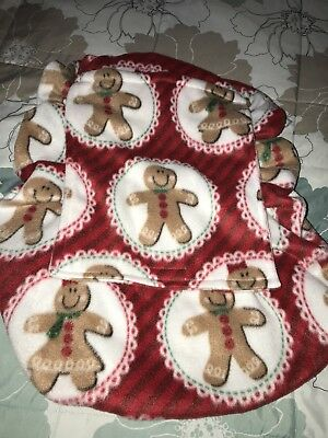 Fleece Infant Carseat Cover.  Gingerbread People