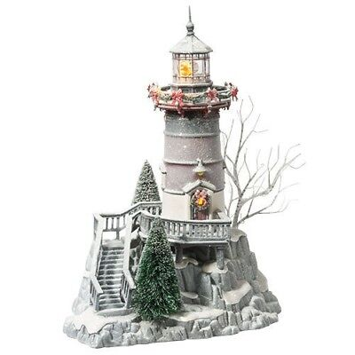 Dept 56 Winters Frost Lighthouse #809459 2011 Rare Holiday Snow New Department