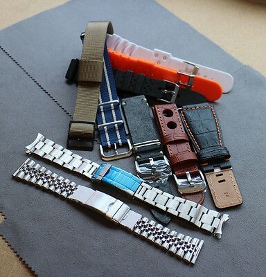 Spares or Repairs Bargain Lot Of 10 Assorted Watch Straps, Leather, NATO, Rubber