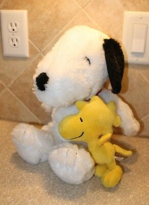 """Peanuts gang plush Snoopy 15"""" and Woodstock 7""""! Pristine condition!"""