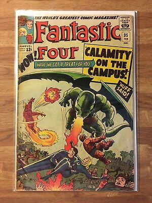 Fantastic Four #35 (Marvel 1964) First App of Dragon Man - Silver Age -See Store