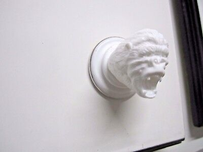 Antiques > Architectural & Garden  > Drawer Pulls pair knobs King Kong silv ring