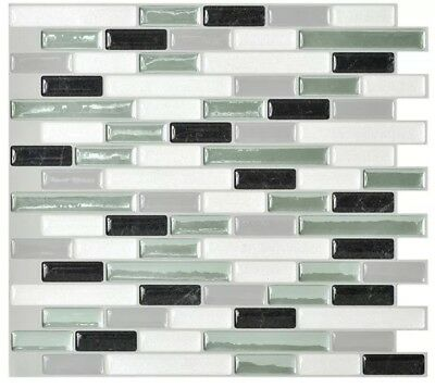 "Muretto Prairies 10.2""X9.1"" Mosaic Decorative Wall Tile Backsplash Green (12-Pk)"