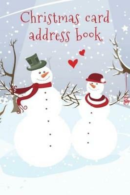 Christmas card address book: An book and tracker for the cards you send...