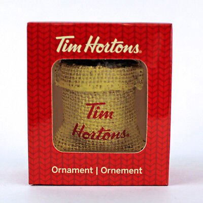 SACK OF COFFEE BEANS | Tim Hortons 2016 CHRISTMAS Ornament | Timmies NEW in Box