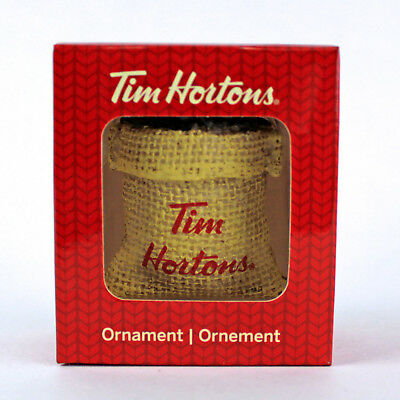 Tim Hortons SACK OF COFFEE BEANS | 2016 CHRISTMAS Ornament | Timmies NEW in Box