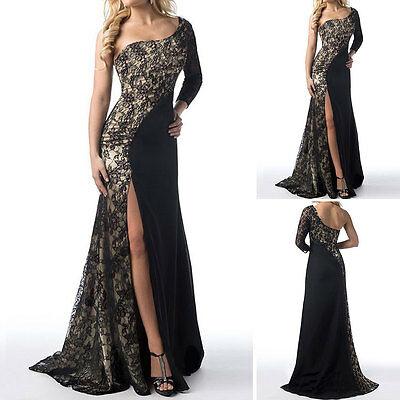 Ladies Women Formal Party Evening Ball Gown Prom Bridesmaid Lace Maxi Long Dress