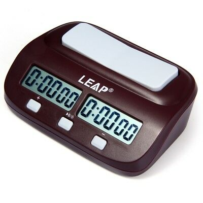 LEAP PQ9907S Digital Chess Clock I-go Count Up Down Timer Game Competition NEW