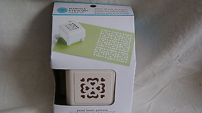 MARTHA STEWART Petal Heart Pattern - Punch all over the Page - NEW IN PACKAGE