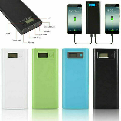 20000mAh Micro USB Type-C Power Bank DIY Kit LCD Battery Charger with LED Light