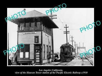 Old Historic Photo Of Slauson Tower, Pacific Electric Railway Station 1910