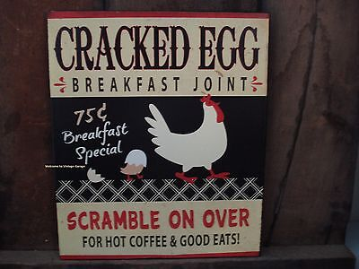 *METAL DECOR* BREAKFAST SPECIAL HOT COFFEE EGGS CHICK country style cafe pub bar