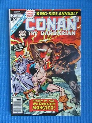 Conan The Barbarian King-Size Annual # 2 -(Vf/nm) -Attack Of  Midnight Monster