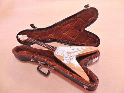 Miniature Replica Jamie Hetfield Metallica Flying V Novelty Guitar In Case!!!