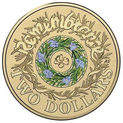 102017 Remembrance Day Coloured $2 coin - Available for immediate shipment