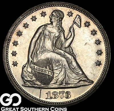 1873 Seated Liberty Dollar, PROOF, Highly Demanded Choice PF, Mere 600 PRs Made!