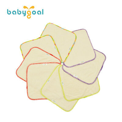 8 pcs Babygoal Reusable Bamboo Baby Wipes  Washable Saliva Towel In US