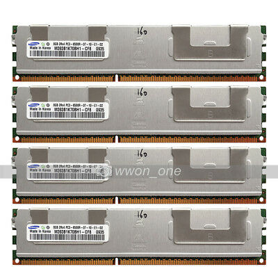 Samsung 32GB 4x8GB PC3-8500R DDR3-1066MHz 240Pin ECC REG Registered Server RAM