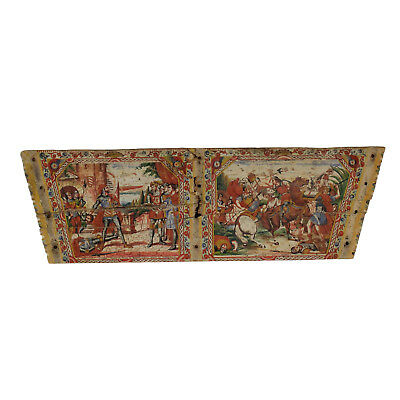 Sicilian Cart Wood Paintings Manufactured in Italy First Half of 1900