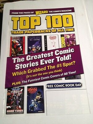 Free Comic Book Day Wizard Top 100 Trade Paperbacks Of All Time